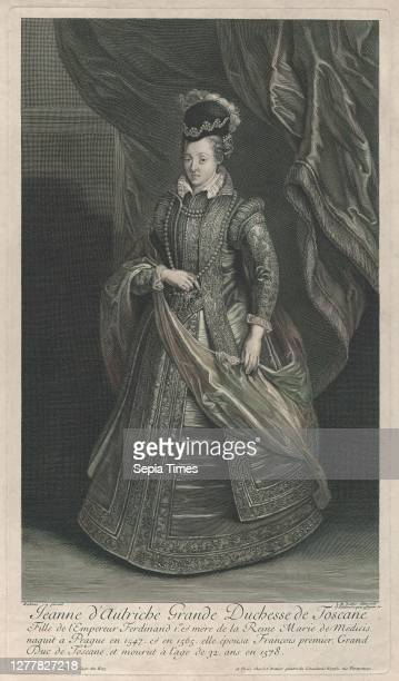 Gérard Edelinck, Portrait of Joanna of Austria, Grand Duchess of Tuscany, Gérard Edelinck , Intermediary draftsman Jean Marc Nattier , After Peter...