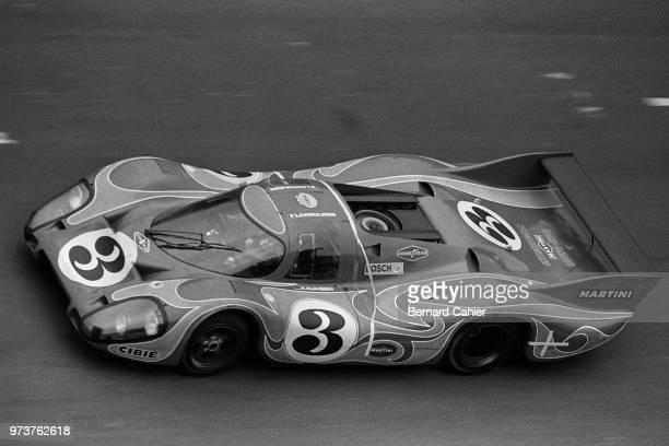 Gérard Larrousse Porsche 917L 24 Hours of Le Mans Le Mans 14 June 1970 The 'psychedelic' Porsche 917L of Gérard Larrousse and Willy Kauhsen who...