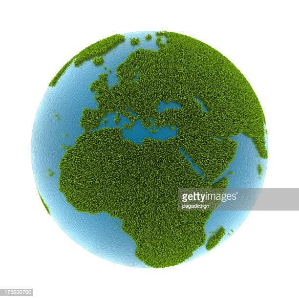 Gras Erde-Europa & Afrika