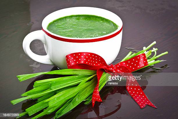 grass juice - wheatgrass stock photos and pictures