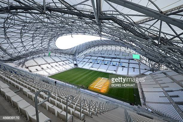 A grass lighting system used especially in winter and in otherwise shaded areas to aid the growth of grasses operates onto the pitch at the Stade...