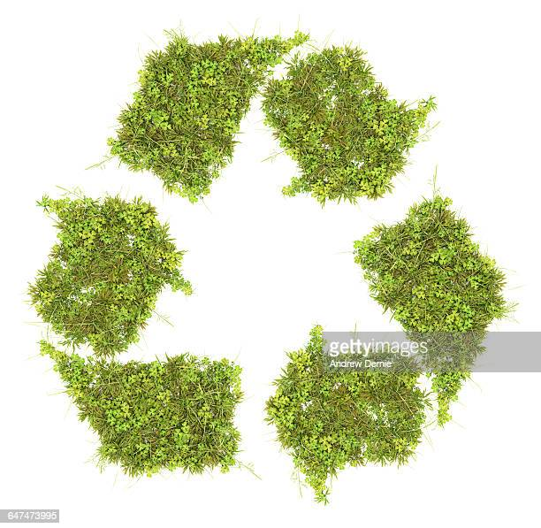Grass recycling symbol