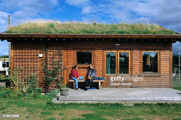 Grass Roof Cabin in Findhorn Ecovillage in Scotland