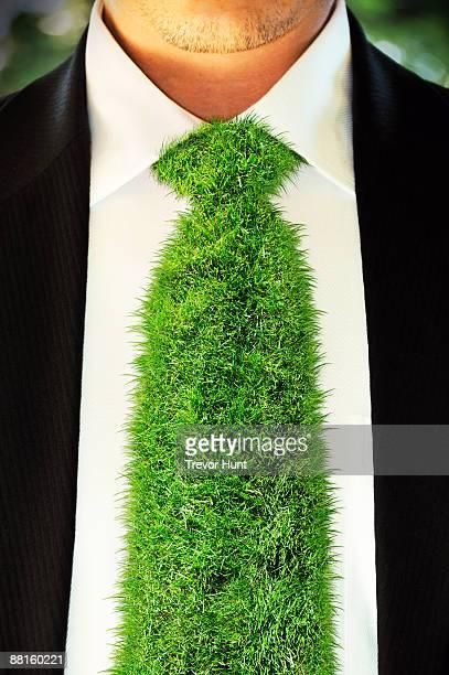 Grass tie - green business