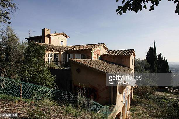 A picture taken 12 January 2007 in Grasse southern France showing a former Iraqi leader Saddam Hussein's half brother Barzan alTikriti villa which...