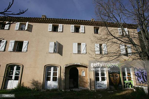 A picture taken 12 January 2007 in Grasse southern France of one of former Iraqi leader Saddam Hussein's half brother Barzan alTikriti villa which...