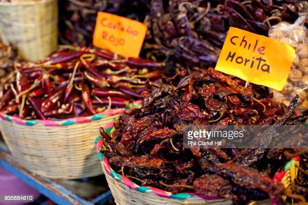 Grasshoppers are a local crunchy speciality on sale here in Mercado 20 Noviembre / Market 20 November Mercado Benito Juárez is also known as Oaxaca...