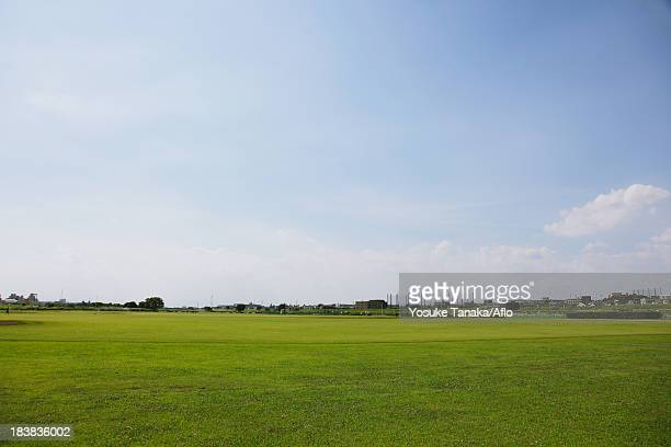 grassland and sky - riverbank stock pictures, royalty-free photos & images