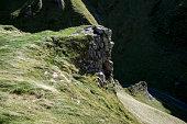 Grassy slopes at Winnats Pass, Derbyshire, England