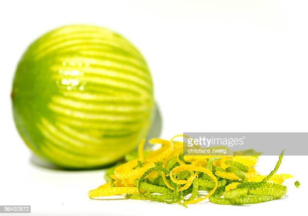 Grated lemon and lime zest