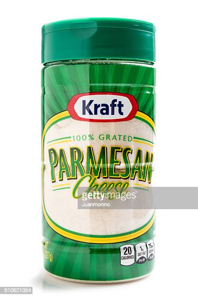 """grated parmesan cheese """"kraft"""" brand - kraft foods stock photos and pictures"""
