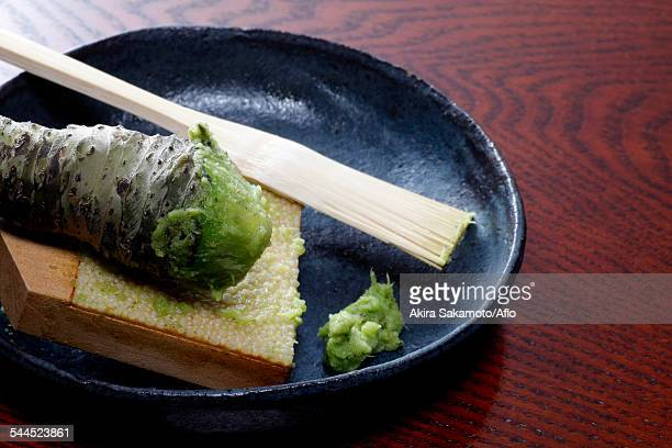 grated wasabi - wasabi stock pictures, royalty-free photos & images