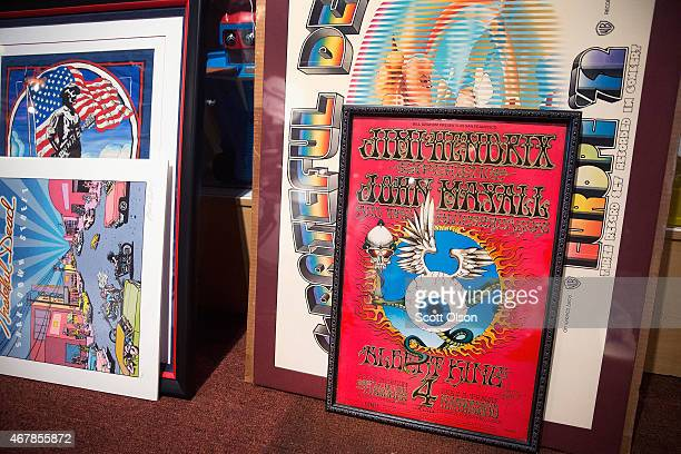 Grateful Dead artwork concert posters and photographs are prepared for auction on March 27 2015 in Union Illinois The items will be offered for sale...