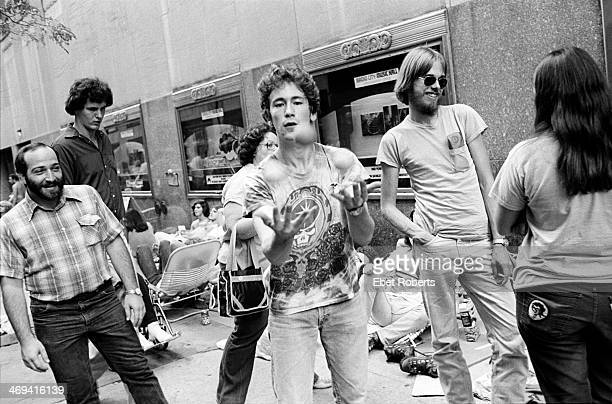 Grateful Dead fans outside of Radio City Music Hall in New York City on September 21 1980