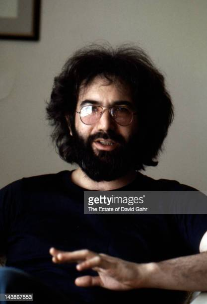 Grateful Dead guitarist Jerry Garcia in an interview session at the Hotel Navarro in April 1975 in New York City New York