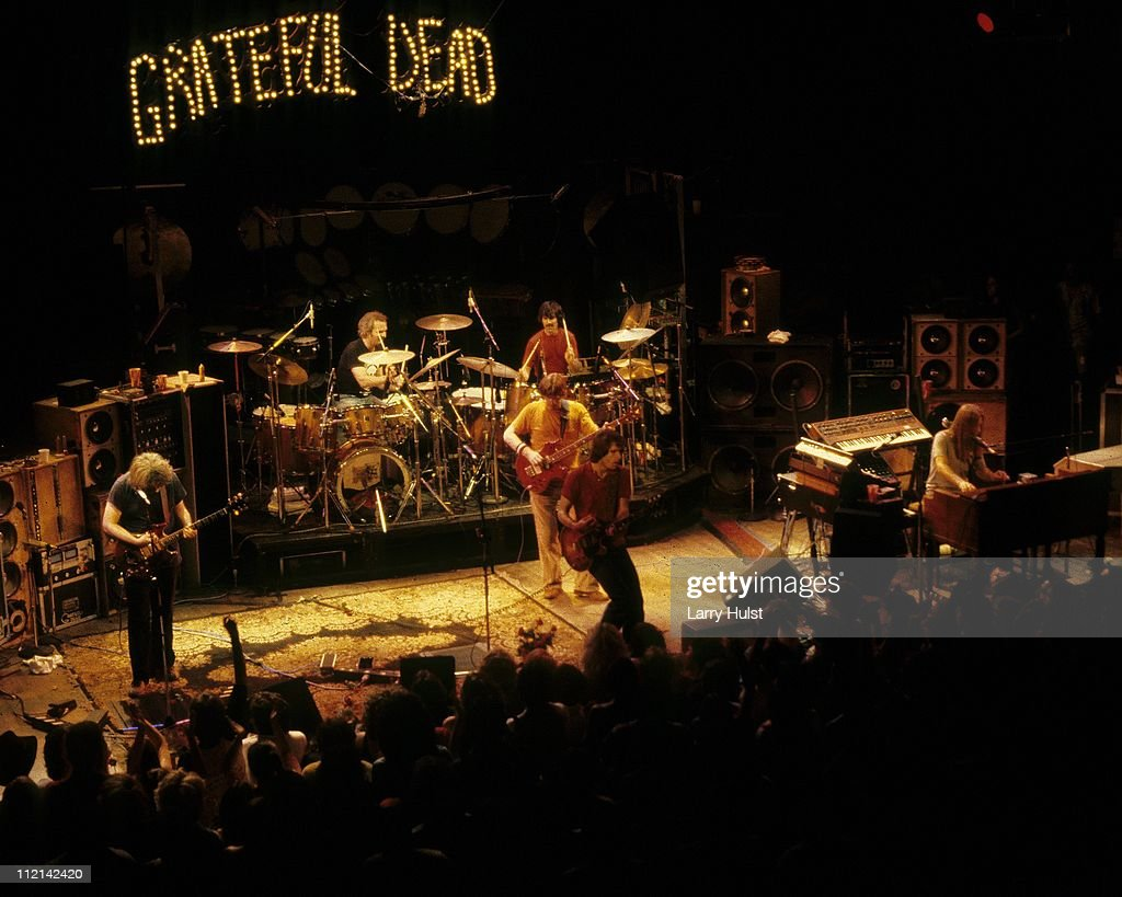 Grateful Dead performing at the Warfield Theater in San Francisco, California on October 14, 1980.