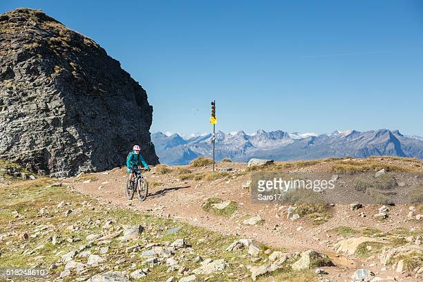 Graubünden hoch Höhe einzelne trail-Mountainbiking, Schweiz