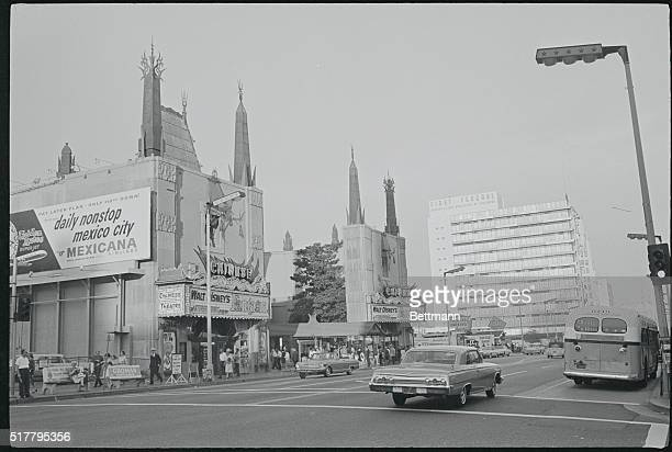 Grauman's Chinese Theatre and First Federal Savings on Hollywood Boulevard