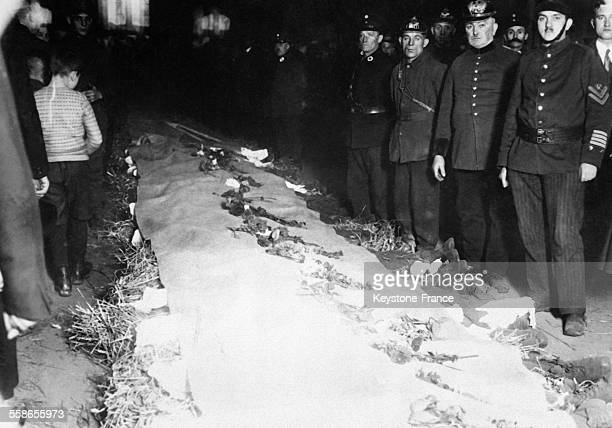 Grave catastrophe miniere qui a cause la mort de 96 mineurs, a Maybach, Allemagne, le 1er novembre 1930.