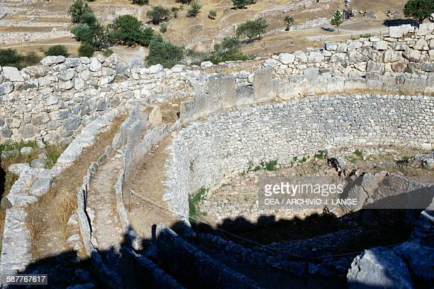 Grave Circle A 15501500 BC Mycenae Greece Mycenaean civilisation 16th century BC