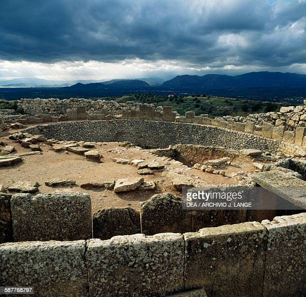 Grave Circle A acropolis of Mycenae Peloponnese Greece Mycenaean civilisation 16th century BC