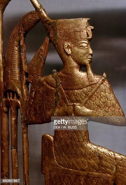 Grave goods Treasury of Tutankhamun 13331323 BC Egypt Egyptian civilisation New Kingdom Dynasty XVIII Detail Cairo Egyptian Museum