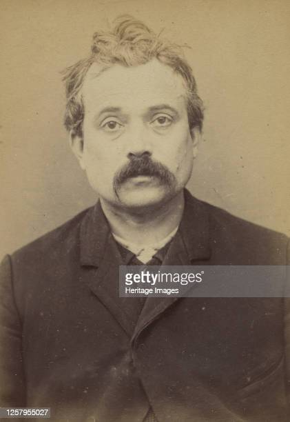 Grave. Jean. 38 ans, n� le 16/10/54 � Breuil . Typographe. Anarchiste. 9/1/94, 1894. Artist Alphonse Bertillon.