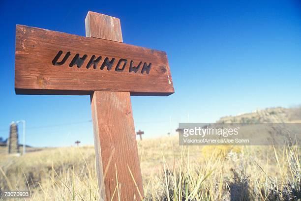 """Grave marker in Boot Hill Cemetery in Billings, MT"""