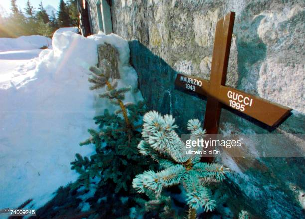 Grave of Maurizio Gucci in St Moritz 1997