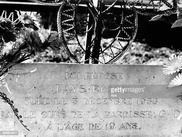 Grave of Regine Fays in Uruffe France Regine Fays 19 years old pregnant was killed y her lover Guy Desnoyers priest of Uruffe