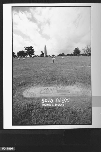 Grave of Shoeless Joe Jackson star baseball player who was ousted from baseball in mid career for association in game fixing in World series in 1919...