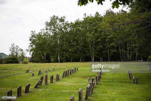 Grave yard is seen near Clinton Correctional Facility on June 18, 2015 outside Dannemora, New York. Two convicted murderers were found missing from...