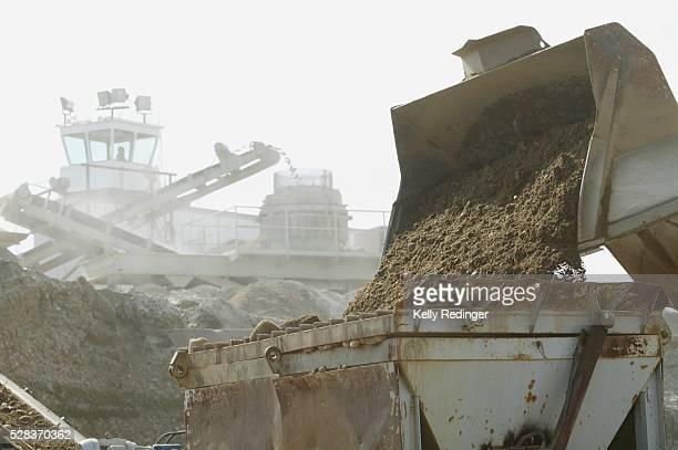 Gravel crusher and separator