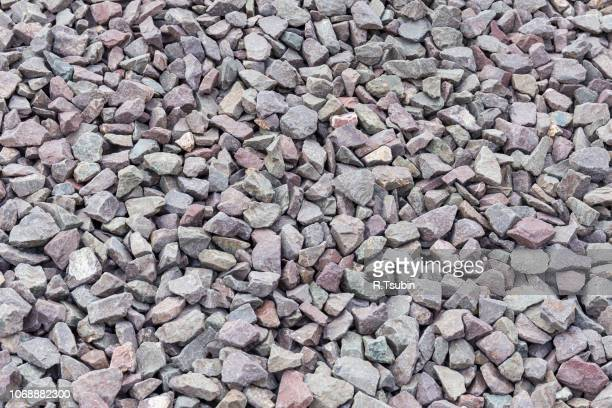 Gravel granite stones for background or texture
