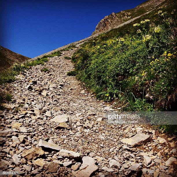 Gravel Path On Mountain