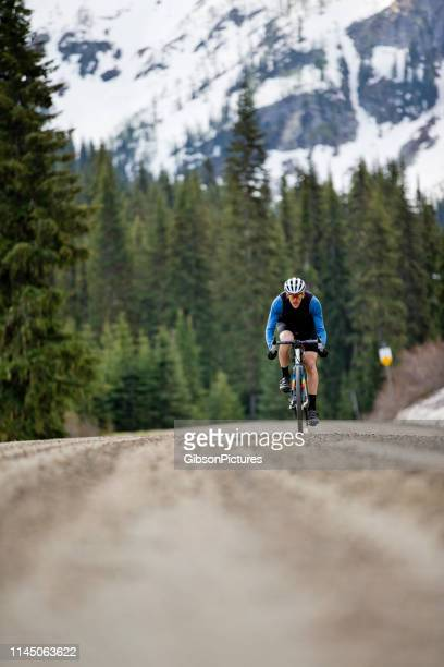 Gravel Road Bicycle Rider