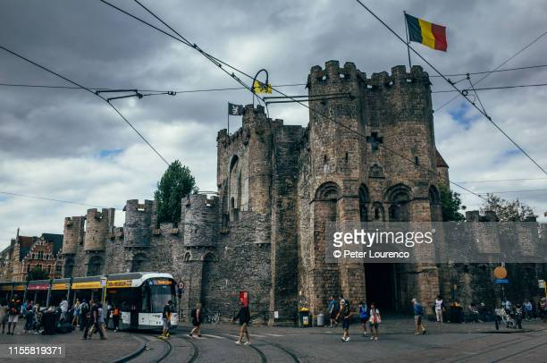 gravensteen castle - peter lourenco stock pictures, royalty-free photos & images