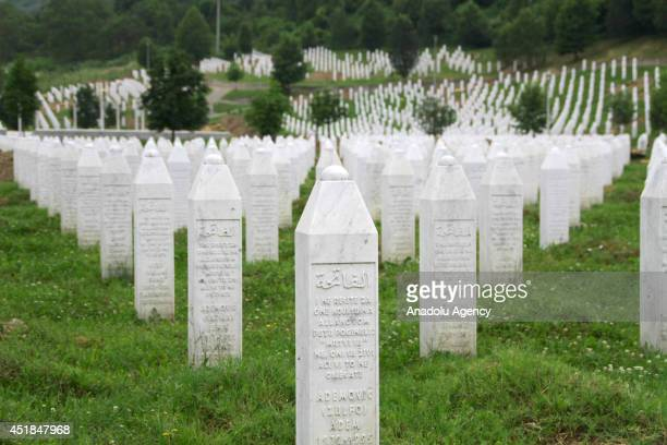 Graves are prepared for 175 victims of Srebrenica massacre, committed by Serbian troops on July 11 in Srebrenica, Bosnia and Herzegovina on July 8,...