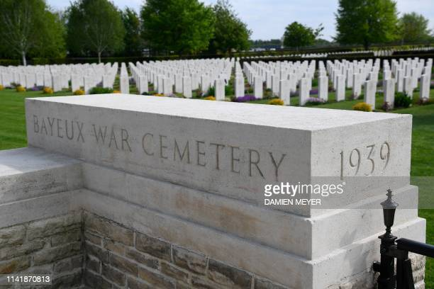Graves are seen at the Bayeux War Cemetery in Bayeux northwestern France on May 6 2019 The Commonwealth War Graves Commission is responsible for...