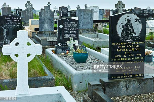 Graves at Lisdeen christian graveyard near Kilkee County Clare West of Ireland