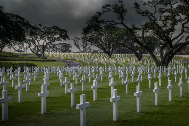Graves at Manila American Cemetery and Memorial