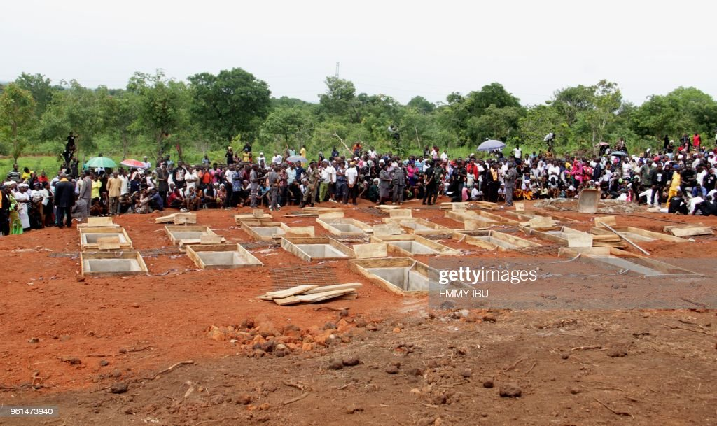 NIGERIA-UNREST-FUNERAL : News Photo