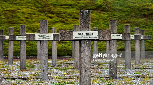 Graves of deportees at the NatzweilerStruthof 'Memorial de la Deportation' and national necropolis near Struthof France 21 October 2013 In this...