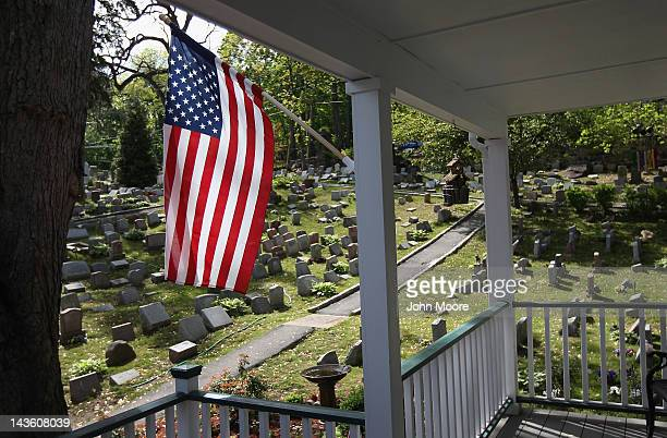 Graves stretch across a hillside at the Hartsdale Pet Cemetery and Crematory on April 30 2012 in Hartsdale New York The cemetery established in 1896...