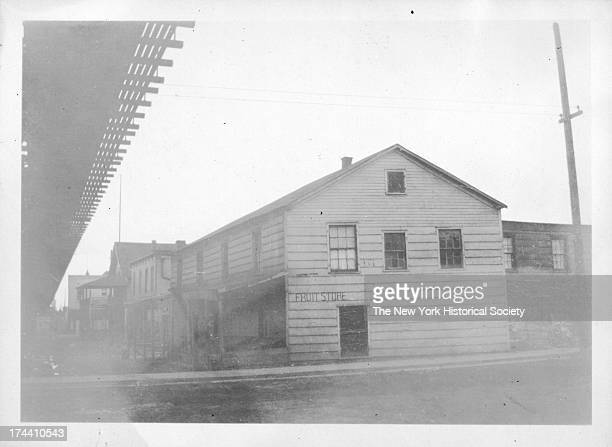 old country store northside of roadway under Brighton Beach L structure at west corner of W 2 Street Coney Island New York New York 1923