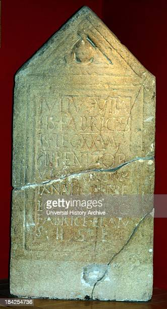 Gravestone of Julius Vitalis. Armourer of the 20th legion valeria victrix. Died age 29. The Latin inscription pays tribute to his 9 years' service....