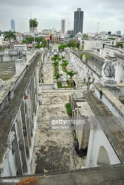 Graveyard at La Ciudad Blanca or White City cemetery, Guayaquil, Ecuador, South America
