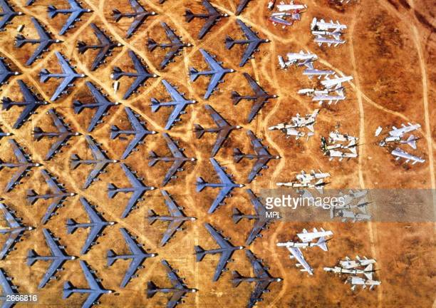 A graveyard for surplus B52 bombers at DavisMonthan airbase in the Arizona desert