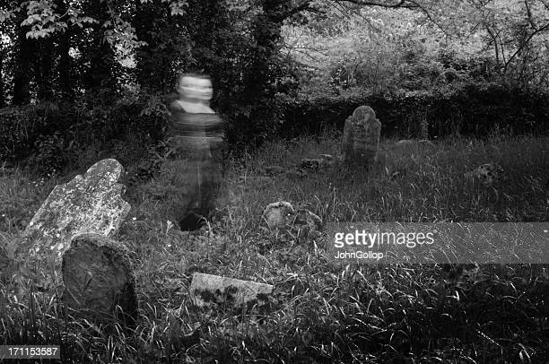 graveyard ghost - cemetery stock pictures, royalty-free photos & images