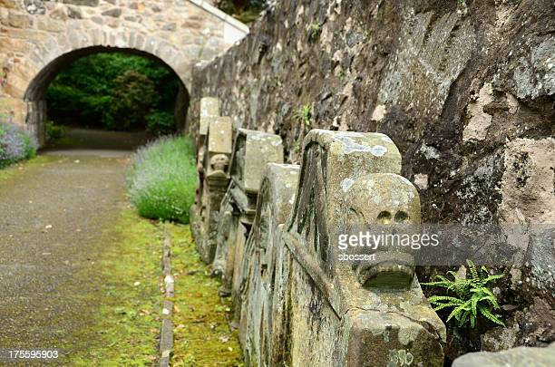 graveyard in aberdour, scotland - fife scotland stock pictures, royalty-free photos & images